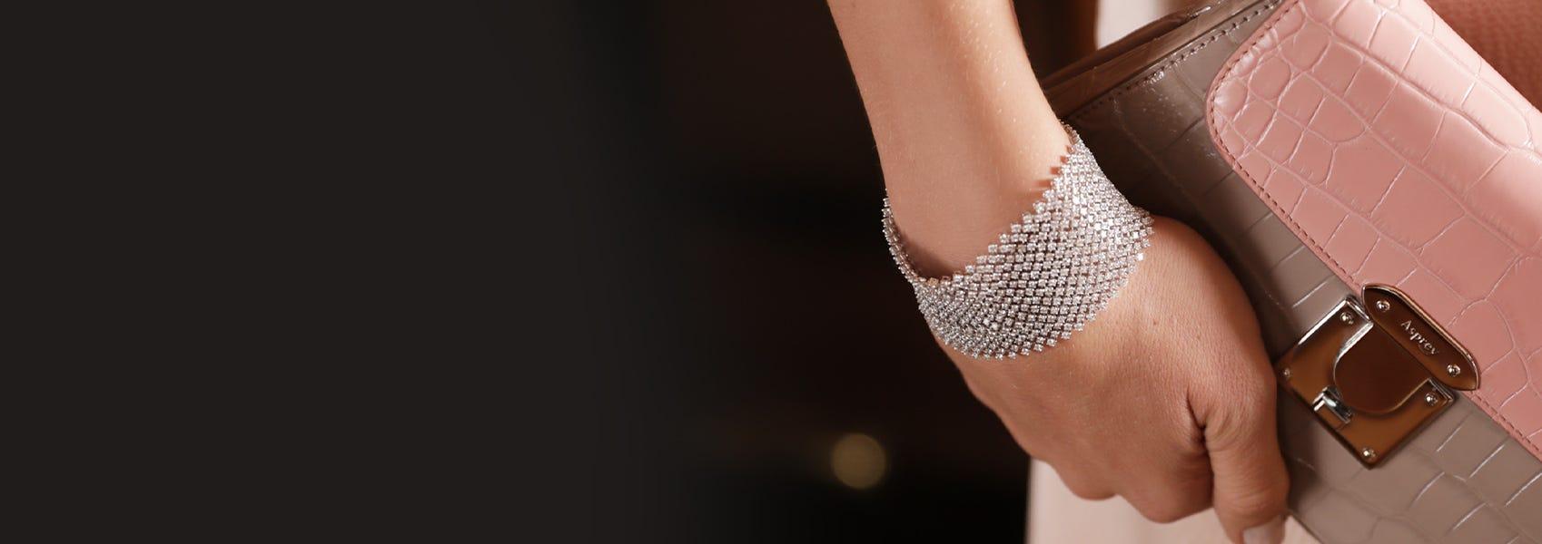 Woman wearing Asprey bracelet